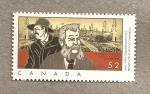 Sellos de America - Canadá -  Primeros pozos comerciales de petroleo