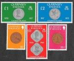 Sellos de Europa - Reino Unido -  199-203 - Numismática