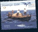 Sellos del Mundo : Europa : Eslovenia : Productos del mar