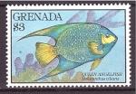 Sellos de America - Granada -  serie- Arrecife de coral