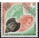 Sellos del Mundo : Europa : España : IV Congreso Mundial de Psiquiatría  1966  1,50 ptas
