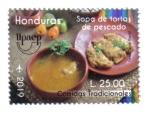 Sellos de America - Honduras -  Upaep 2019: Comidas Tradicionales