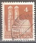Sellos de Europa - Alemania -  Frauenkirche, Munich.Zona de Ocupación estadounidenses, británicos.