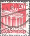 Sellos del Mundo : Europa : Alemania : Puerta de Brandemburgo/ocupación aliada general.