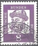 Sellos del Mundo : Europa : Alemania : Johannes Gutenberg (inventor de la moderna imprenta).