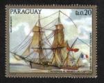 Sellos del Mundo : America : Paraguay : Pinturas de viejos buques de guerra, A. Roux