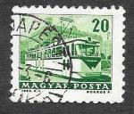 Sellos de Europa - Hungría -  1508 - Tranvía