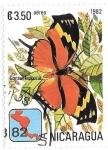 Sellos de America - Nicaragua -  mariposas