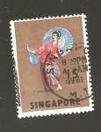 Sellos de Asia - Singapur -  INTERCAMBIO