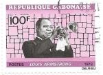 Sellos de Africa - Gabón -  Personaje