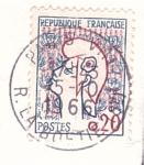 Sellos de Europa - Francia -  Marianne de Cocteau