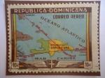 Sellos de America - Rep Dominicana -  450 Aniversario de la Ciudad de Santo Domingo - Mapa- rep. Dominicana