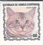 Sellos de Africa - Guinea Ecuatorial -  gatos de raza