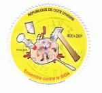 Sellos del Mundo : Africa : Costa_de_Marfil : Ensemble contre le SIDA