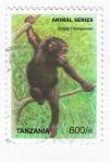 Sellos del Mundo : Africa : Tanzania : Animal Series  Chimpanzee