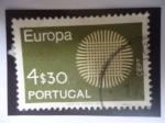 Sellos de Europa - Portugal -  Europa - C.E.P.T - Flamante Sol - (El Mimbre funciona como Símbolo del Sol)