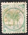 Sellos del Mundo : Oceania : Samoa_Occidental : Samoa Postage, 1886, 1 Penny