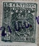 Sellos del Mundo : Europa : España : 15 céntimos especial movil