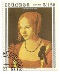 Sellos de America - Ecuador -  Retrato de mujer veneciana. A. Durero (1471-1528)