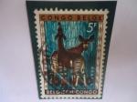 Sellos del Mundo : Europa : Bélgica :  Congo Belga - Okapi (Okapia Johnstoni)-Serie:Animales-Congo Belga.
