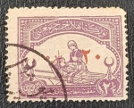 Sellos del Mundo : Asia : Turquía : Turkey Great War Cinderella : Red Crescent Fund (Nurse), 2 1/2 piastre, 1916