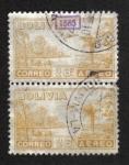 Sellos del Mundo : America : Bolivia : Motivo del país, Avión sobre el río