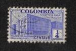 Sellos del Mundo : America : Colombia : Recargo para la construcción del edificio de comunicaciones, edificio del Ministerio de Correos y Te