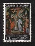 Sellos del Mundo : America : Colombia : Congreso Eucarístico, 39ª Ed. (II), El matrimonio de la Virgen, por B.de Figueroa