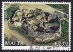 Sellos del Mundo : Europa : Malta : templo antiguo