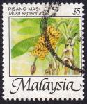 Sellos del Mundo : Asia : Malasia : musa sapientum