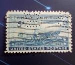 Sellos del Mundo : America : Estados_Unidos : US stamp with perfin