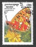 Sellos de Asia - Camboya -  1827 - Mariposa
