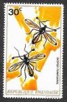 Sellos de Africa - Rwanda -  496 - Insectos