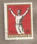 Sellos de Europa - Hungría -  Carteles revolucionarios:hombre rompiendo cadenas