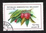 Sellos de Africa - Madagascar -  Lichas