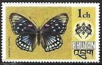 Sellos del Mundo : Asia : Bhután : Mariposas - Sephisa chandra)