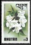 Sellos del Mundo : Asia : Bhután : Flores - Rhododendron fortunei