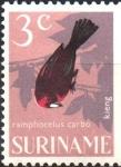 Sellos del Mundo : America : Surinam : AVES.  TANGARA  DE  PICO  PLATEADO.
