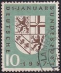 Sellos del Mundo : Europa : Alemania : 1 de enero de 1957