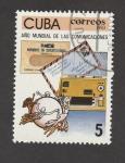 Sellos de America - Cuba -  Año mundial de las comunicaciones