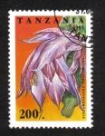 Sellos de Africa - Tanzania -  Flores de Cactus
