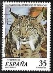 Sellos de Europa - España -  Fauna española en peligro de extinción - Lince Iberico