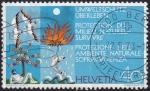 Sellos de Europa - Suiza -  protección del ambiente natural