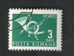 Sellos de Europa - Rumania -  127 - Cornamusa