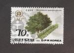 Sellos del Mundo : Asia : Corea_del_norte : Megasequoia glyptostroboides