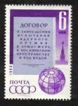 Sellos de Europa - Rusia -  Tratado de prohibición de pruebas nucleares.