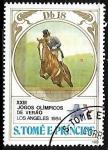 Sellos de Africa - Santo Tomé y Principe -  XXIII Juegos Olímpicos de Verano Los Ángeles 1984 - Equitación