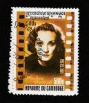 Sellos del Mundo : Asia : Camboya : Marlene Dietrich