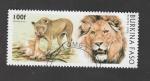 Sellos del Mundo : Africa : Burkina_Faso : Panthera leo