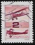 Sellos de Europa - Hungría -  Avión Brandenburg C I (1915)